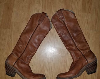 Antique Cowboy boots! Genuine calf skin.