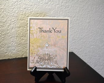 Thank You, Blank Thank You, Handmade Thank You cards, Handmade cards, Floral cards, Feminine cards, Greeting cards, Thank You so Much