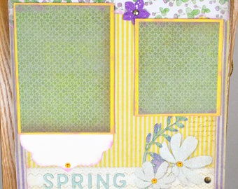 Scrapbook layouts, Spring layout, 12 x 12 layouts, Single page scrapbook layouts, Seasonal layouts, Premade Scrapbook pages