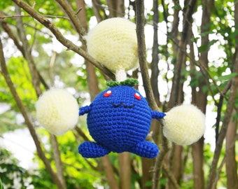 Ready Made Jumpluff Pokemon Crocheted Amigurumi Doll