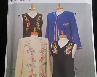 Simplicity 9891 Jackets & Vests Ribbon Embroidery