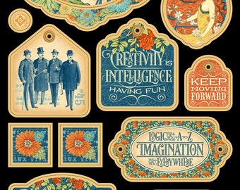 "Graphic 45 ""World's Fair Collection"" Chipboard 2"