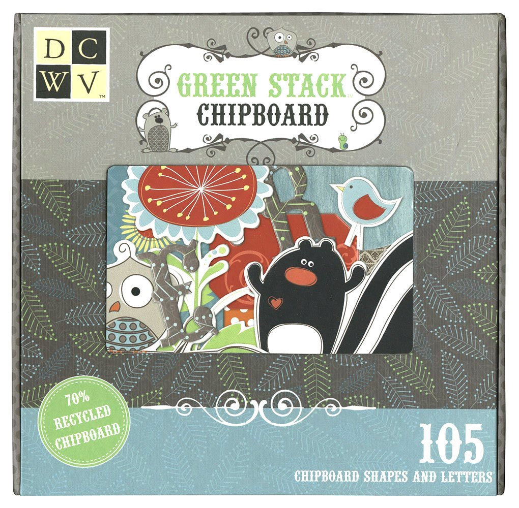 Chipboard Letters Ideas ~ Dcwv green woodland collection chipboard