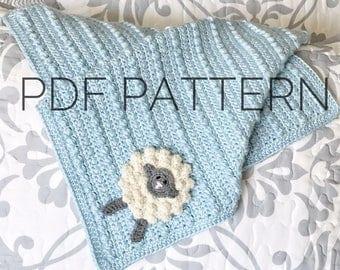Crochet Security Blanket Pattern//Crochet Baby Blanket Pattern//Crochet Blanket Pattern//Crochet Afghan Pattern//Crochet Pattern