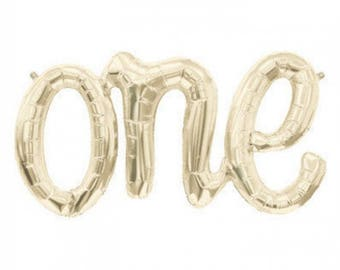 one balloon, one Script Letter Balloon, Gold, one Banner, one Garland, Birthday, Party decor, Photo Prop