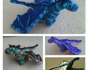 Plush Crochet Dragon (1 of 3)