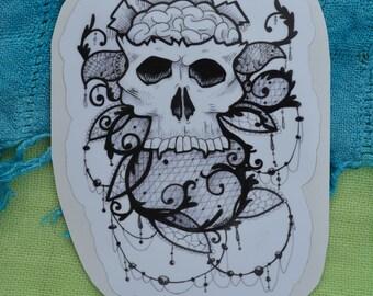 """Tattoo Skull 5"""" Decal"""