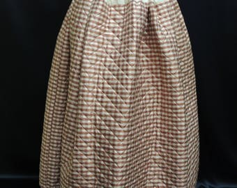 18th Century 1750-1790 Quilted Silk Petticoat  for Reenactment or living history