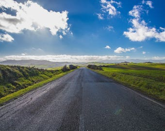 A street to heaven - Street - Sky - Countryside - Landscape - Panorama - Photo - Photography - Tuscany