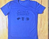 Unisex Vintage print Game of Thrones sigil premium fitted tri-blend tee