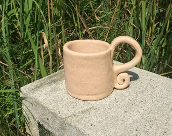Fancy Handle Orphan Ceramic Handmade Mug