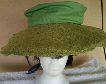 a fabric hat that can be fold up when not in use