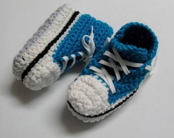 PATRON crochet #20 Pantoufles enfants 2 à 10 ans / Converse / espadrilles hautes / français et anglais / chaussons / 3petitesmailles