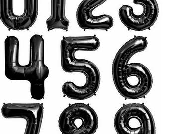 32 inch Black 1-9 Number Balloons,Helium balloons