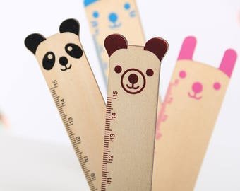 Ruler/wooden ruler cute animal friends