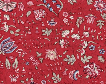 Cotton Chintz - Dutch Heritage - series 1025 red floral - fabric by 50cm (110 x)
