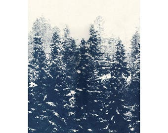 Snow Covered Forest Screenprint