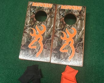 Browning Mini Table Top Cornhole Boards with mini cornhole bags