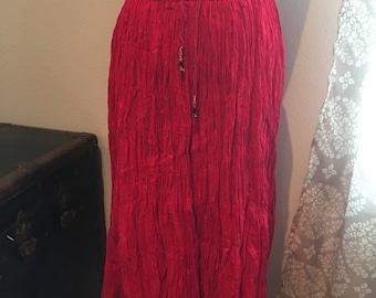 Vintage Huntington Ridge Crinkle Skirt