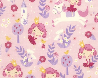 Princess and Ponies Pink, Timeless Treasures, Quilting Cotton, C4777 Pink