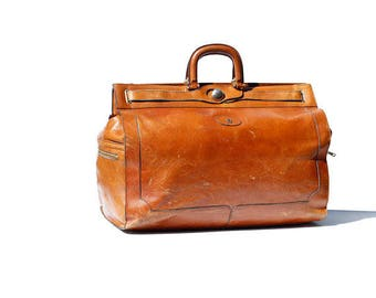 Tropical Nut Brown Leather Travel Bag