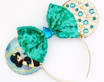 The Sultans Daughter - Handmade Princess Jasmine Inspired Mouse Ears Headband