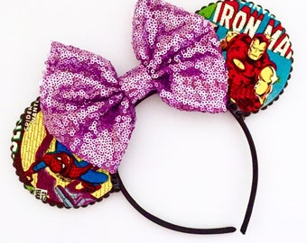 The Superheroes - Handmade Mouse Ears Headband