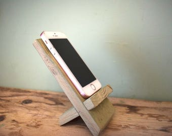 Pallet Wood Phone Holder/Stand (Willow Green)