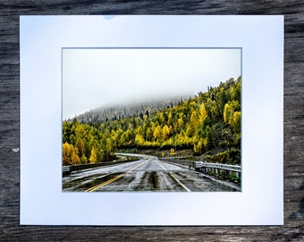 Autumn - George Parks Highway, Denali, Alaska (8x10 matted print)