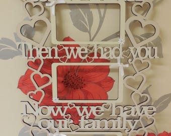 First we had each other, family hanging, standing, photo frame