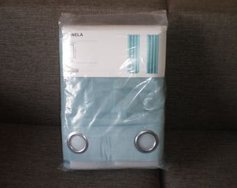 "Curtains ""Sanela"" 1 pair, Light Turquoise  New With Tags from Norway"