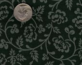 """Quilters 1/8th (9""""x22"""") Vintage Jinny Beyer Cranston VIP Sage Vine on Green OOP"""