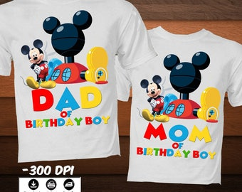 DIY Mickey Clubhouse Iron on Transfer Image-Printable Disney Family Birthday Shirt-Clubhouse Birthday Party  Shirt-IDIGITAL DOWNLOAD