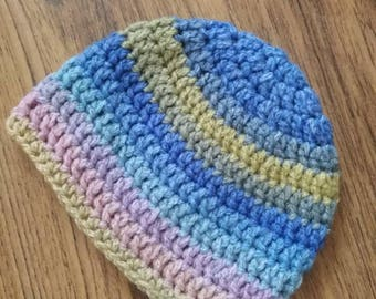 Baby chunky woollen beany hat