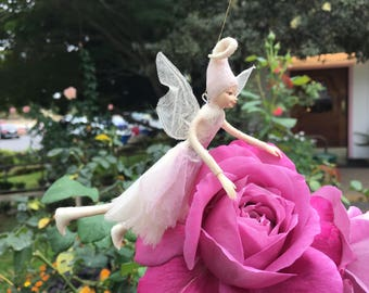 "Fae Folk® Fairies - GLIMMER - Stardust Fairy. Bendable, posable 5"" soft doll can sit, stand, or hang."