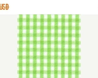 ON SALE Lime Green Gingham 1/8""