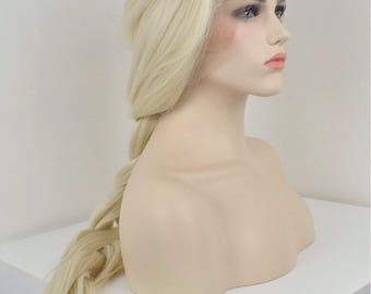 Platinum Blonde - Nordic - heat resistant synthetic lace front wig - Cosplay / Everyday wear/Special occasions / Elsa / Daenerys