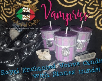 Vampriss ~ Royal Enchanted Votive Candle