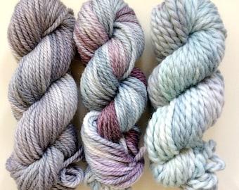 Handdyed alpaca merino blend - weaver's yarn pack