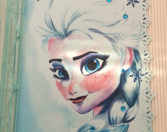 Elsa Greeting Card, Disney Princess, Frozen, Happy Birthday