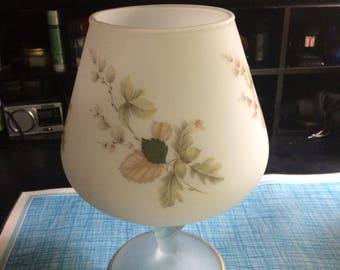 Vintage frosted glass vase