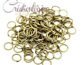 50 rings of junction 7 mm bronze color