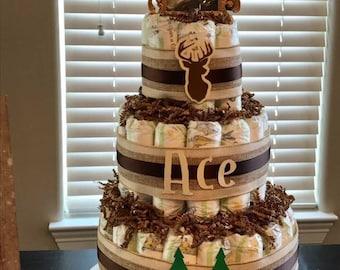 Deer & Bear Diaper Cake