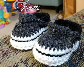 Crochet baby Vans, crochet baby booties, Made to order