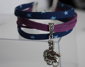 Unicorn MULTISTRAND Bracelet (blue / purple)