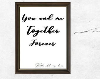 Poster/print quote calligraphy decoration