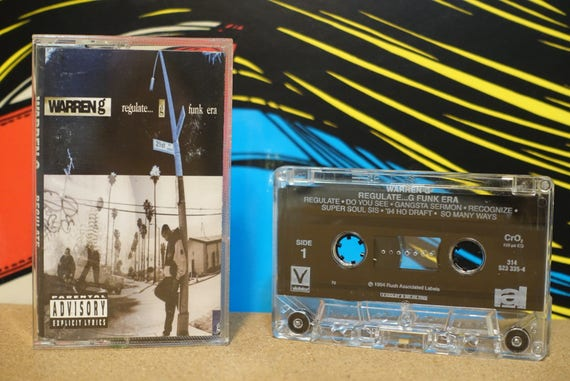Regulate... G Funk Era by Warren G Vintage Cassette Tape