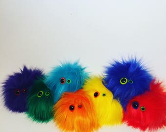 Monster, Plush monster, Anxiety toy, Stress toy, Ball, Fur monster.