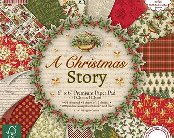 "64 papers ""First Edition"" two pockets 15.2 cm CHRISTMAS STORY"