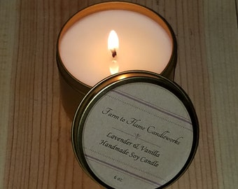 6oz Scented Soy Candle